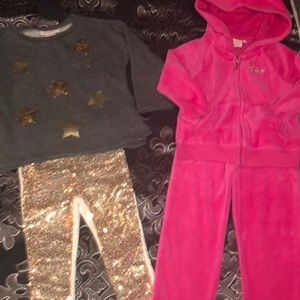 (2) 2t juicy couture toddler outfits